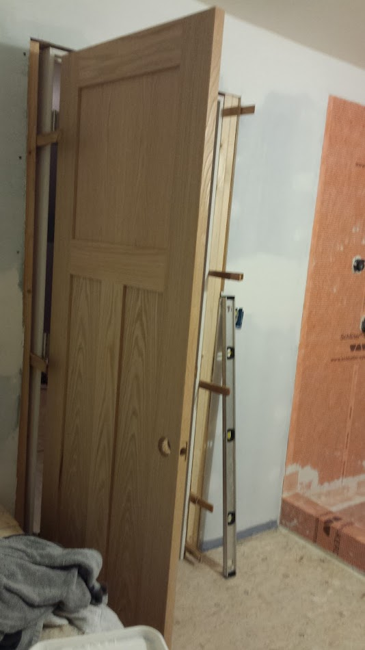 Bathroom door installed