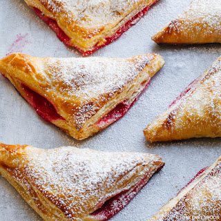 Cranberry Pear Puff Pastry Turnovers.