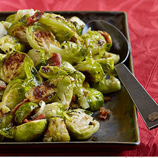 Roasted Brussels Sprouts with Pancetta & Sage.