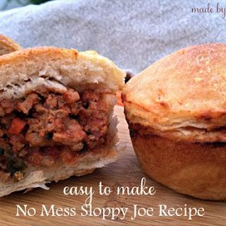 Easy to Make No Mess Sloppy Joe