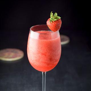 Delish Strawberry Frozen Rosé Cocktail.
