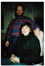 Photo: MTS - 1987 winter ski trip, (l to r) Steve Rothwell and Annelee Wright
