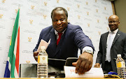 Finance minister Tito Mboweni during his delivery of the budget speech on February 20 2019