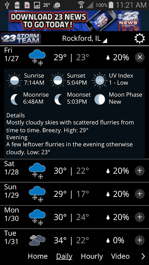 WIFR Weather- screenshot