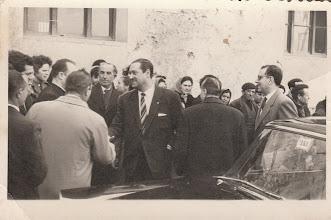 Photo: Inauguración telefono publico, 1960, visita Gobernador Civil (Fotografía enviada por Saul Herrero)
