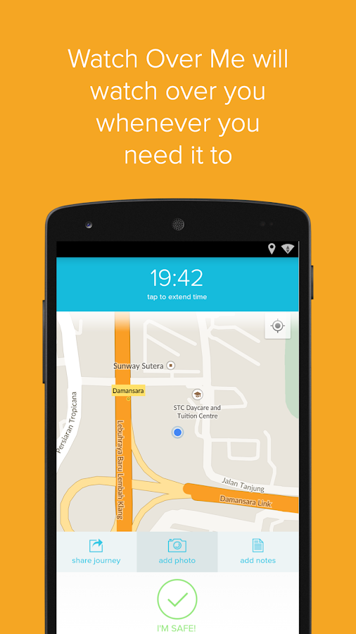 Watch Over Me - The Safety App - screenshot