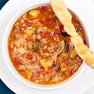 Hearty Minestrone Soup.