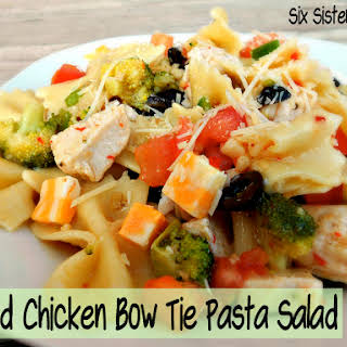 Grilled Chicken Bow Tie Pasta Salad.