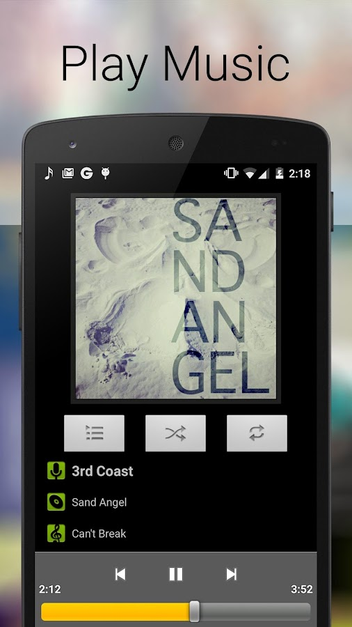 Screenshots of Music Player for iPhone