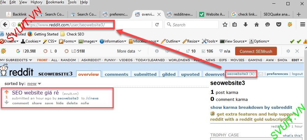 Backlink on Reddit.com(5)