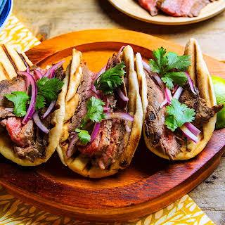 Indian Flank Steak Tacos.
