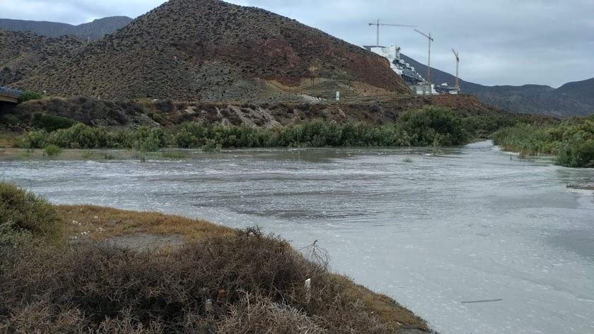 El río Alías, en el paraje de El Algarrobico, este martes. /Foto: Catrina