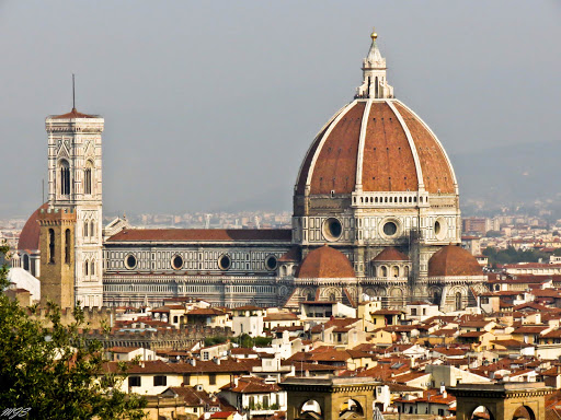 Il Duomo di Firenze (Florence), formally called the Cattedrale di Santa Maria del Fiore, was begun in 1296.