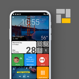 Androidアプリ スクエアホーム ランチャー Windowsスタイル カスタマイズ Androrank アンドロランク