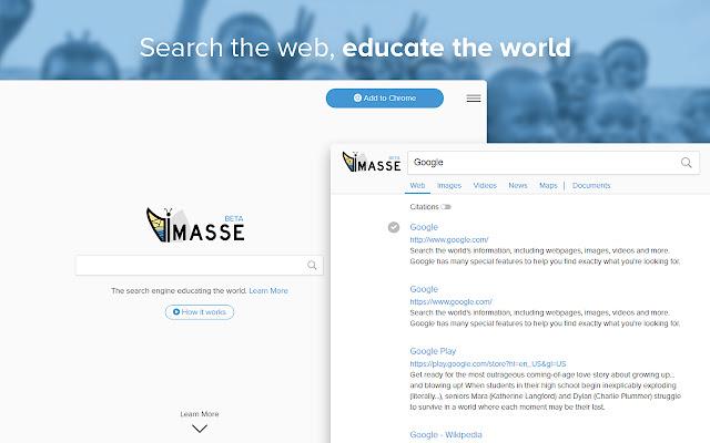 Imasse - Search the web, educate the world