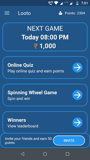 Looto - Live Quiz Games,Trivia Games & Win Cash  captures d'écran 1