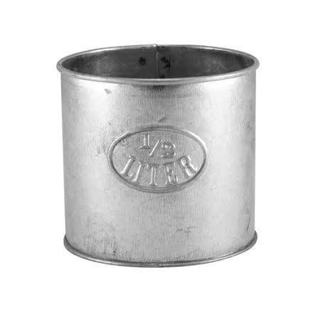 1/2 L mått i zink från Strömshaga