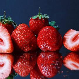 Strawberries by Peter Salmon - Food & Drink Fruits & Vegetables