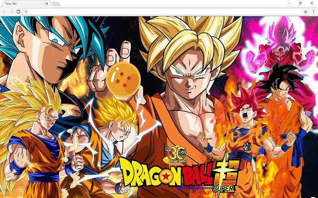 Dragon Ball Super DBZ New Tab Page