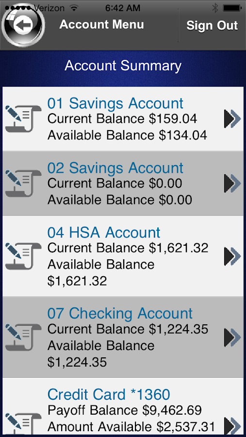 CACL Federal Credit Union- screenshot