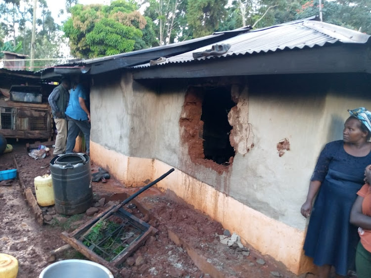 The house in which two children died in Kigumo on Tuesday.