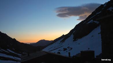 Photo: amaneciendo en el refugio del Toubkal
