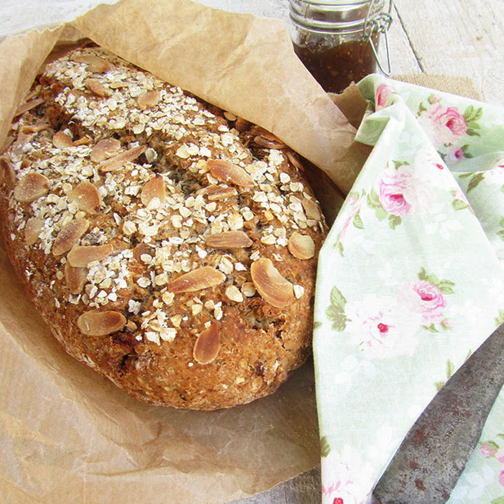 Fruits, Oats and Almonds Bread Recipe