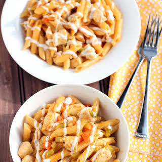Buffalo Ranch Chicken Pasta.