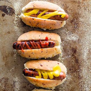 Cheddar Sage and Rosemary Hot Dog Buns