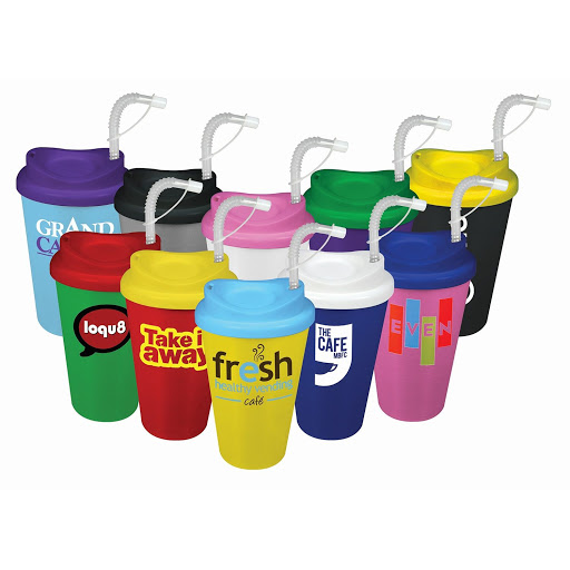 Hot & Cold Takeaway Mug with Straw
