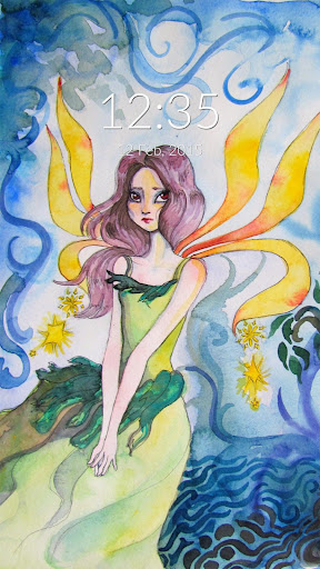 Watercolour Fairy Wall Lock