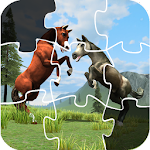 Horse Puzzle Jigsaw For Kids Icon