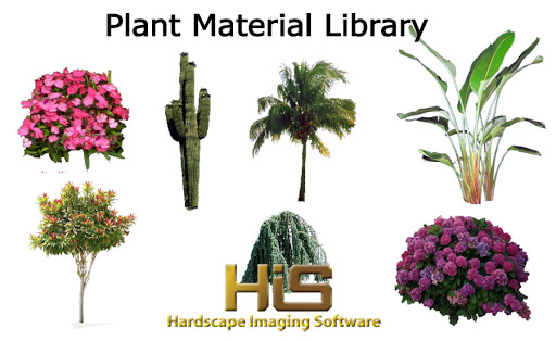 Plants are included in Hardscape Imaging Software.