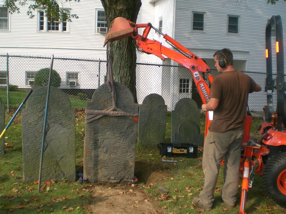 Cemetery Commission Headstone Repair Project