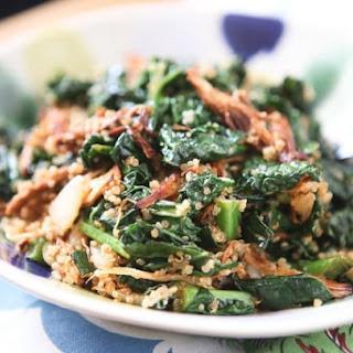 BBQ Chicken, Kale and Quinoa Bowl.