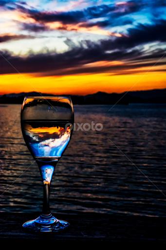 Sunset Beach Wine R By Jamie Valladao