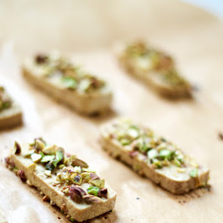 Oven Roasted Tofu with a Pistachio Crust