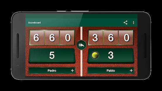 Scoreboard Tennis & Paddle - náhled