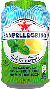 San Pellegrino Sparkling Drink - Fruit Juice & Mint Infusion, 330ml