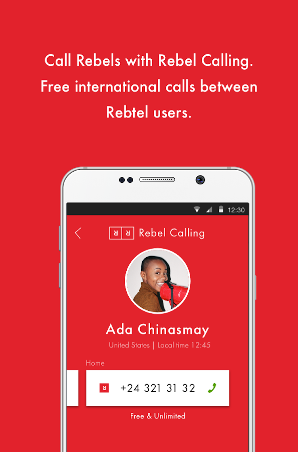 Cheap international calls- screenshot