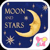 Cute wallpaper-Moon and Stars-