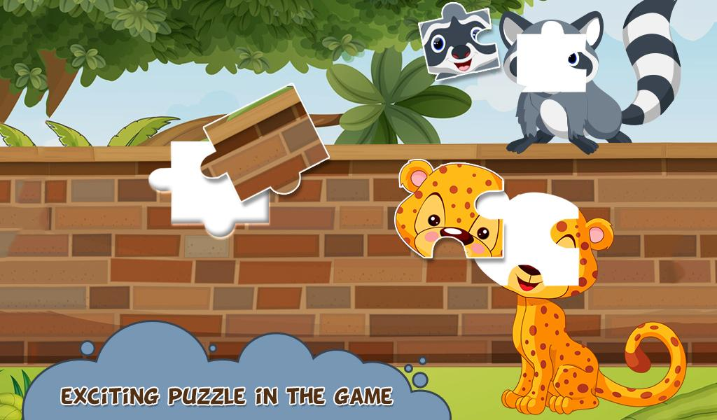 Jigsaw Safari Puzzle For Kids- screenshot