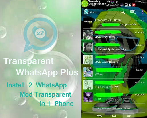 Whats dual App transparent