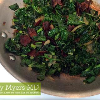 Organic Dinosaur Kale with Arugula and Nitrate-free Bacon.