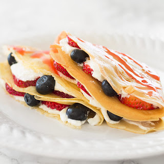 Classic Crepes for Two With Red White and Blue Fixings