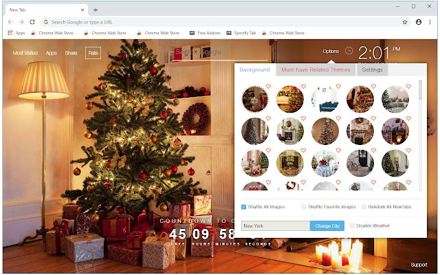 Christmas Tree HD Wallpapers New Tab Themes