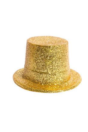 Glitterhatt, hög guld
