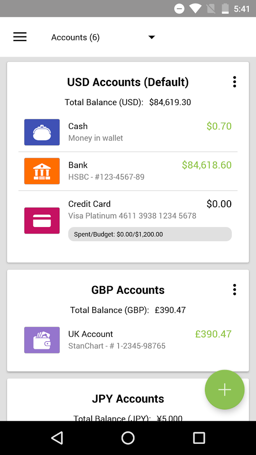 Expense IQ Money Manager- screenshot