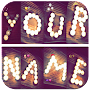 Write your name with different shapes-Candles font APK icon