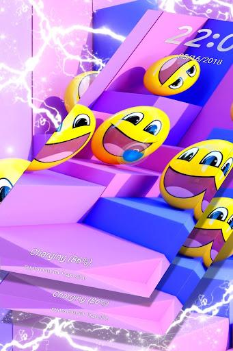 Fun Purple Emojis Locker Theme